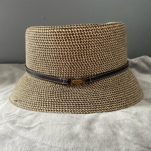 Nine West Straw Bucket Hat